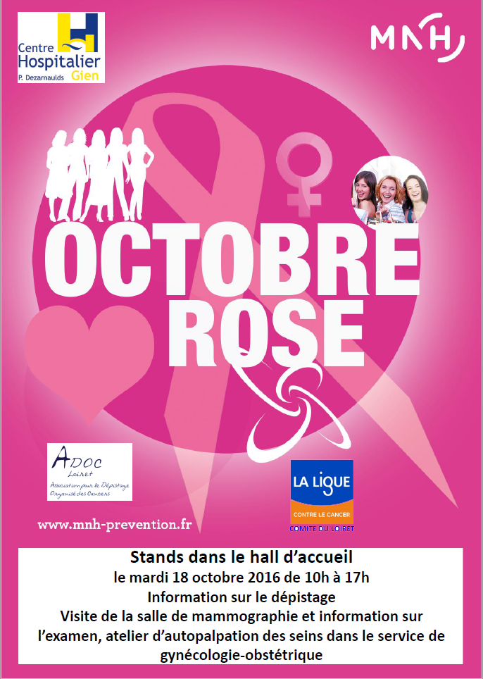 OCTOBRE ROSE A LHOPITAL DE GIEN