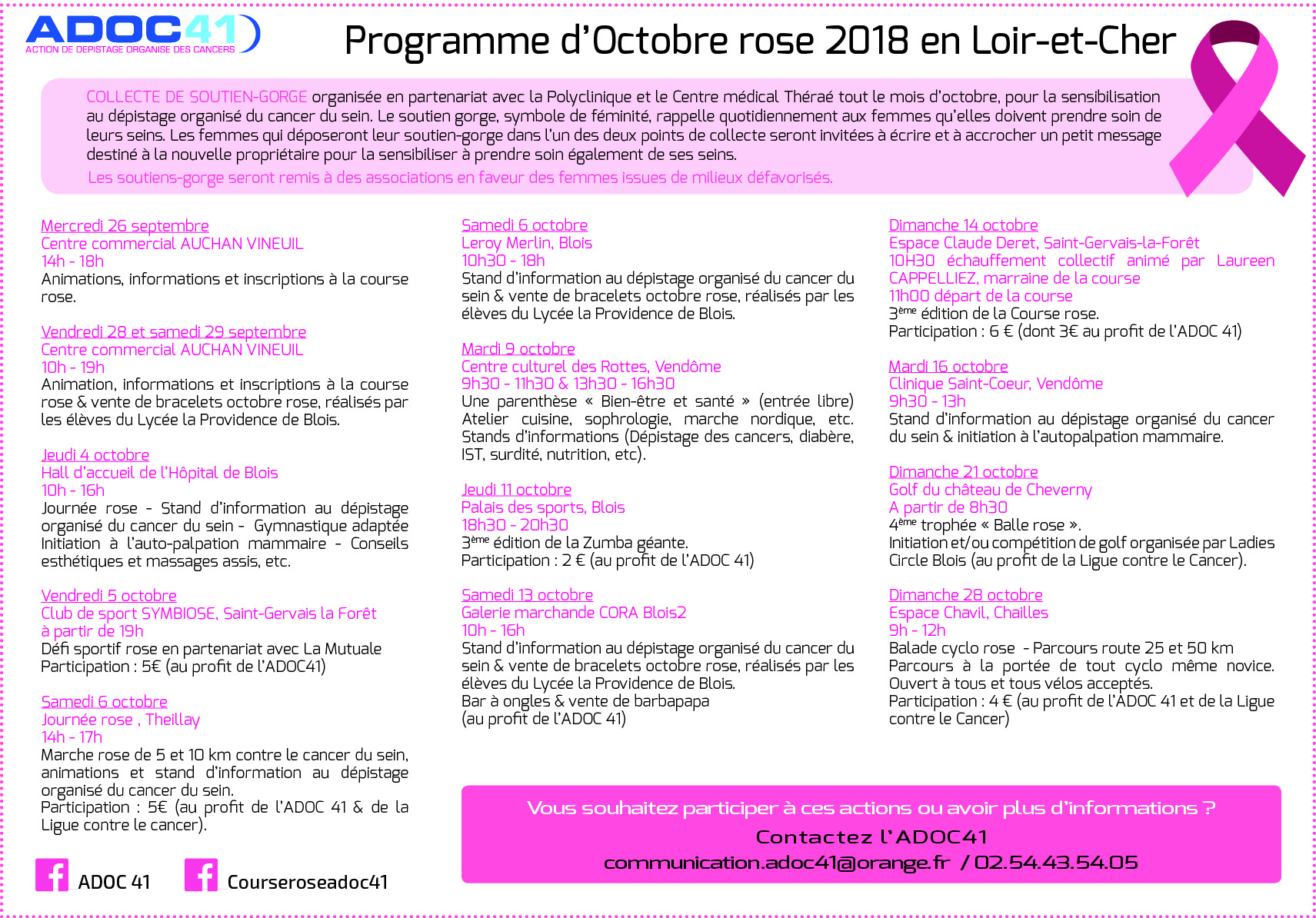 PROGRAMME ACTIONS OCT ROSE 41
